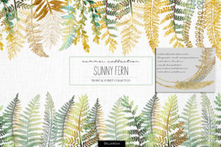 Print on Demand: Sunny Fern Collection Graphic Illustrations By HappyWatercolorShop