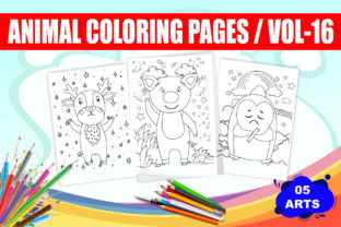 Animal Coloring Pages for Kids | Vol 16 Graphic Coloring Pages & Books Kids By ZealTech Studio