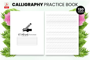 Print on Demand: Calligraphy Practice Book - KDP Interior Graphic KDP Interiors By Design invention