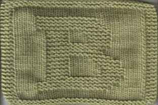Print on Demand: Letter B Dishcloth or Afghan Pattern Graphic Knitting Patterns By Heather Wiegel