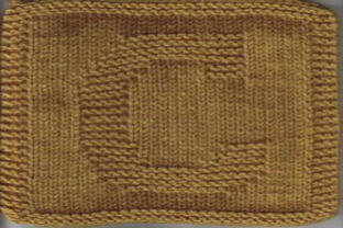 Print on Demand: Letter C Knit Dishcloth Pattern Graphic Knitting Patterns By Heather Wiegel