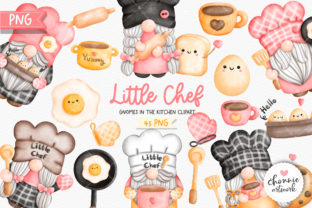 Print on Demand: Little Chef,Gnome in the Kitchen Clipart Graphic Illustrations By Chonnieartwork