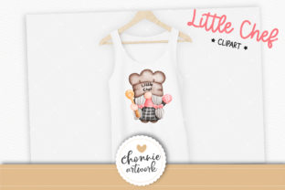 Print on Demand: Little Chef,Gnome in the Kitchen Clipart Graphic Illustrations By Chonnieartwork 4