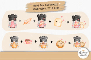 Print on Demand: Little Chef,Gnome in the Kitchen Clipart Graphic Illustrations By Chonnieartwork 5