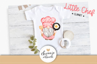 Print on Demand: Little Chef,Gnome in the Kitchen Clipart Graphic Illustrations By Chonnieartwork 3