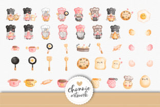 Print on Demand: Little Chef,Gnome in the Kitchen Clipart Graphic Illustrations By Chonnieartwork 7