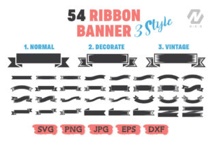 Print on Demand: Ribbon Banner Clipart Vector Bundle Graphic Illustrations By nesdigiart