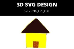 Print on Demand: SD HUT SVG DESIGN FILE Graphic 3D Houses By CREATILORY