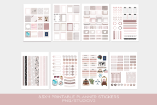 Print on Demand: Wanderlust Functional Stickers Sheets Graphic Print Templates By TheGGShop