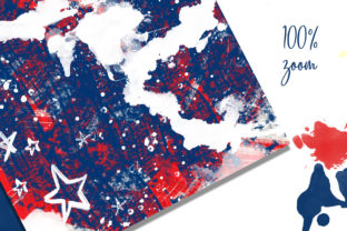 4th of July Mixed Media Digital Papers Graphic Backgrounds By Hippogifts 4