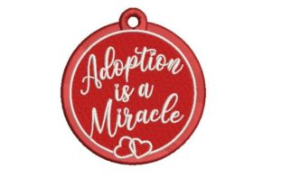 Adoption Ornament Adoption Embroidery Design By Embroidery Designs