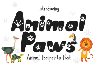 Print on Demand: Animal Paws Display Font By LetterBeary