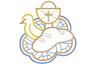 Christian Design: Calice and Dove Baptism Embroidery Design By BabyNucci Embroidery Designs