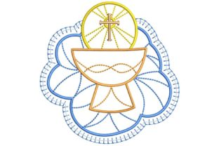 Christian Design: Chalice Baptism Embroidery Design By BabyNucci Embroidery Designs