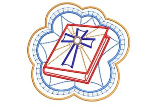Christian Design: Cross and Bible Baptism Embroidery Design By BabyNucci Embroidery Designs