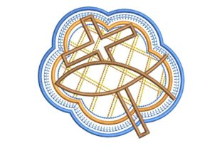 Christian Design: Cross and Fish Baptism Embroidery Design By BabyNucci Embroidery Designs