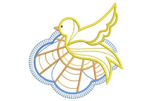 Christian Design: Dove Baptism Embroidery Design By BabyNucci Embroidery Designs