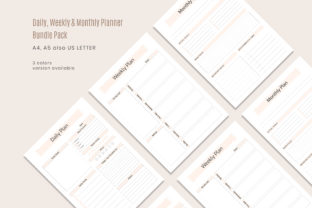 Print on Demand: Daily Weekly Monthly Printable Planner Graphic KDP Interiors By AmitDebnath