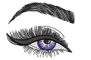 Print on Demand: Eyes Beauty Embroidery Design By ArtEMByNatali