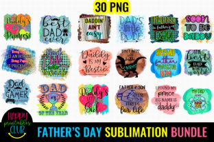 Father's Day Sublimation Bundle Graphic Crafts By Happy Printables Club