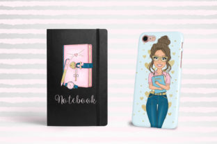 Print on Demand: Girl Boss Clipart - Planner Fashion Png Graphic Illustrations By LerVik 3