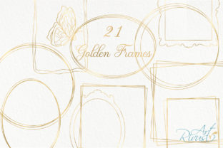 Gold Frame Clipart Golden Frames PNG Met Graphic Objects By CosyArtStore by RivusDea
