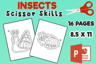 Insects Scissor Skills Cutting Practice Graphic Teaching Materials By MOBAAMAL