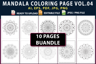 MANDALA COLORING PAGES BUNDLE VOL.04 Graphic Coloring Pages & Books By triggeredit