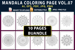 MANDALA COLORING PAGES BUNDLE VOL.07 Graphic Coloring Pages & Books By triggeredit