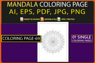 MANDALA COLORING PAGES for KIDS V.69 Graphic Coloring Pages & Books Kids By triggeredit