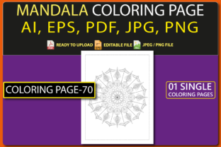 MANDALA COLORING PAGES for KIDS V.70 Graphic Coloring Pages & Books Kids By triggeredit