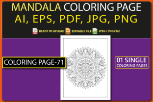 MANDALA COLORING PAGES for KIDS V.71 Graphic Coloring Pages & Books Kids By triggeredit