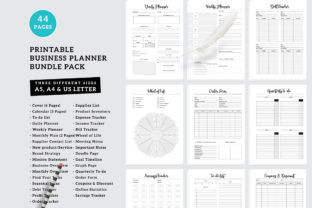 Print on Demand: Printable Business Planner Pack Graphic KDP Interiors By AmitDebnath