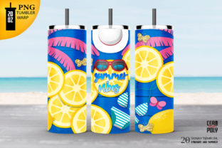Print on Demand: Summer Tumbler 20 Oz Skinny Sublimation. Graphic Crafts By ceropoly