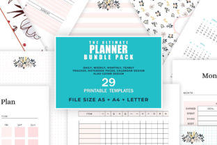 Print on Demand: Ultimate Printable Planner Bundle Graphic KDP Interiors By AmitDebnath 1