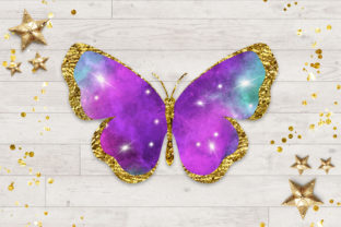 Print on Demand: Butterfly Galaxy Clipart Graphic Illustrations By PinkPearly 2