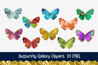 Print on Demand: Butterfly Galaxy Clipart Graphic Illustrations By PinkPearly 3
