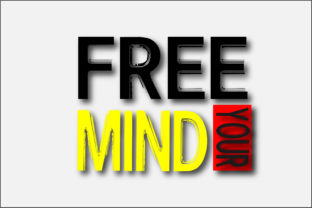 FREE YOUR MIND T-SHIRT DESIGN Graphic Print Templates By Ador Hasan