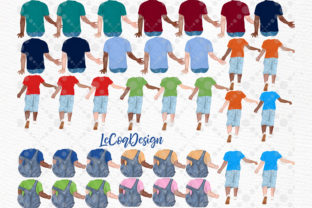 Print on Demand: Father and Children Fathers Day Clipart Graphic Illustrations By LeCoqDesign 2