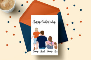 Print on Demand: Father and Children Fathers Day Clipart Graphic Illustrations By LeCoqDesign 5