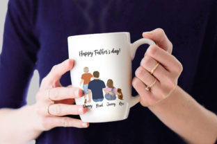 Print on Demand: Father and Children Fathers Day Clipart Graphic Illustrations By LeCoqDesign 7