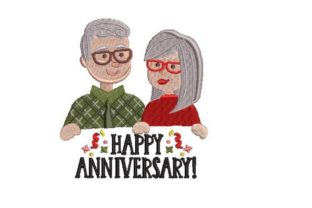 Happy Anniversary Anniversary Embroidery Design By Embroidery Designs