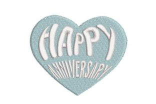 Happy Anniversary Word Art Anniversary Embroidery Design By Embroidery Designs