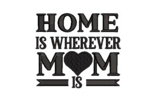 Home is Wherever Mom is Mutter Stickdesign von Embroidery Designs