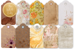 Print on Demand: Label & Tag Clipart Set Earth Tones Graphic Illustrations By daphnepopuliers