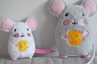 Mouse Stuffie ITH Baby Animals Embroidery Design By nolimitsdesignPL