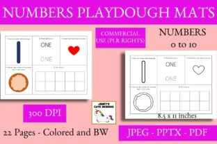 Print on Demand: Numbers Playdough Mats Graphic PreK By Janet's Cute Designs