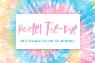 Pastel Tie-Dye Backgrounds Graphic Patterns By TheGypsyGoddess