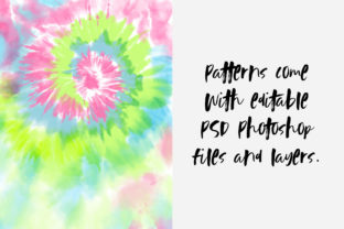 Pastel Tie-Dye Backgrounds Graphic Patterns By TheGypsyGoddess 2