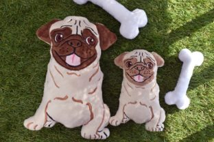 Pug Stuffie ITH Dogs Embroidery Design By nolimitsdesignPL